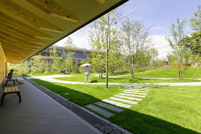 縁側空間から庭を見る
